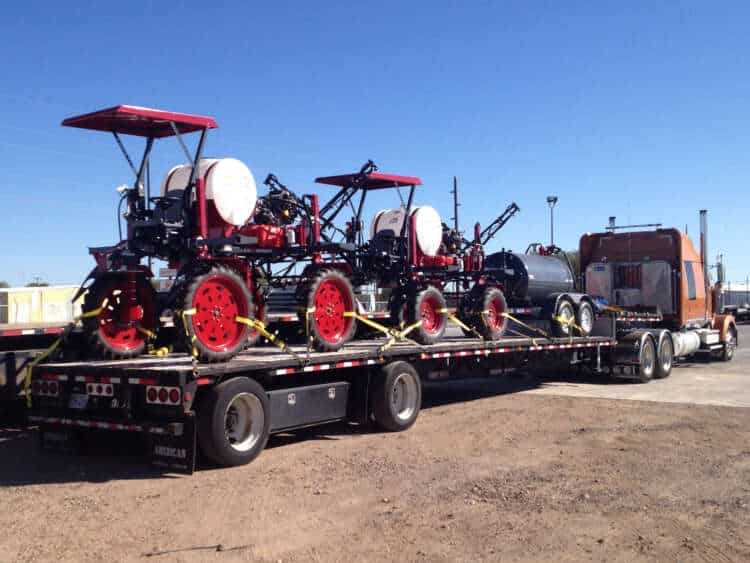 A trailer load of Spider HTCs going to Mexico.