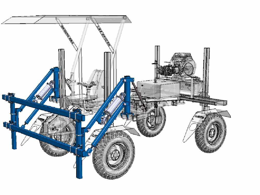 Lee Spider Classic Options Blue Front Lift