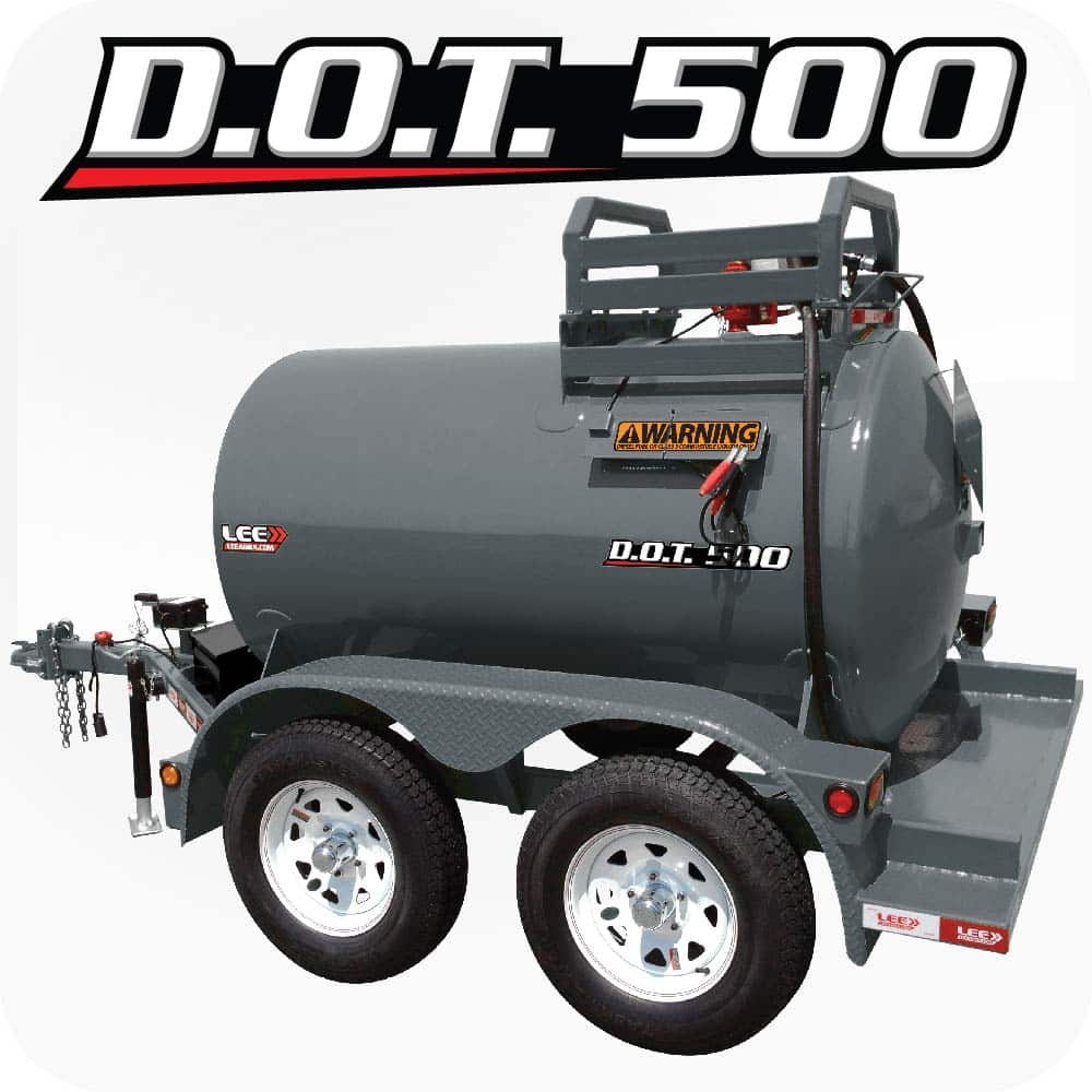 LEE DOT 500 Diesel Fuel Trailer Gray Product 1