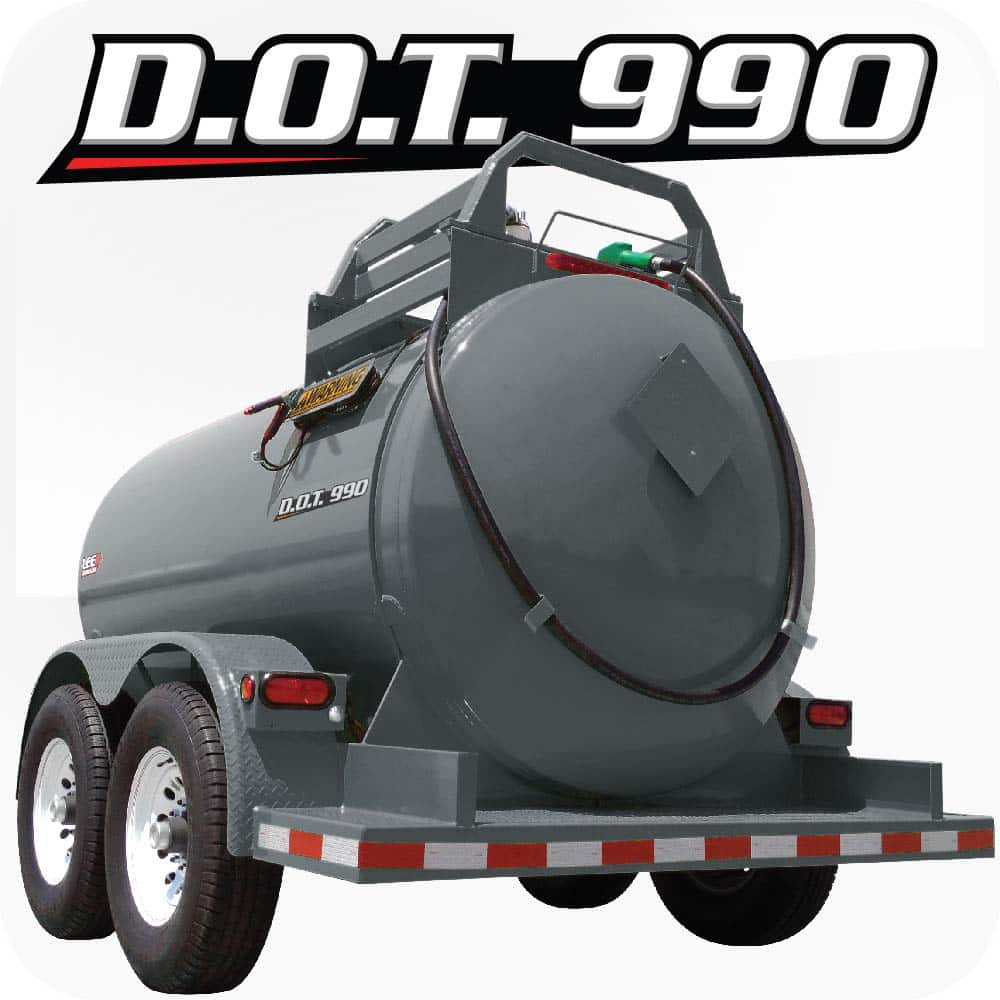 LEE DOT 990 Diesel Fuel Trailer Gray Product 1